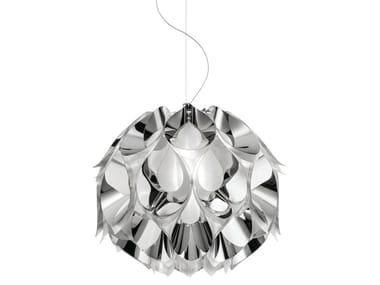 Indirect light Steelflex® pendant lamp FLORA MEDIUM SILVER