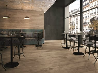 Porcelain stoneware wall/floor tiles with wood effect SOUL BLEND