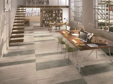 Porcelain stoneware flooring with wood effect SOUL PEARL
