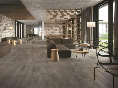 Porcelain stoneware flooring with wood effect SOUL GREY