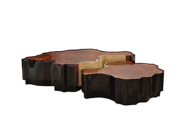 Modular wooden coffee table for living room HORIZON | Coffee table for living room