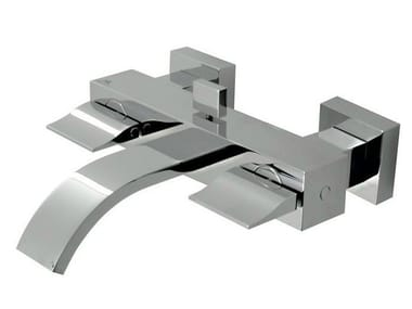 Wall-mounted bathtub tap with aerator with diverter IMAGINE | Bathtub tap