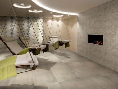 Ceramic flooring with stone effect POESIA