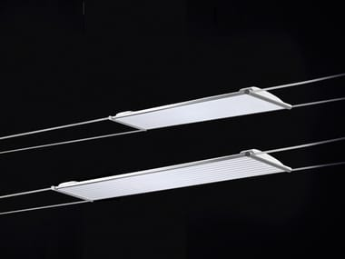 Fluorescent cable-mounted pendant lamp MINITENSOT5
