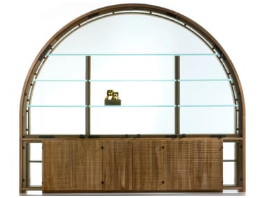 Walnut display cabinet GRANDE ARCO