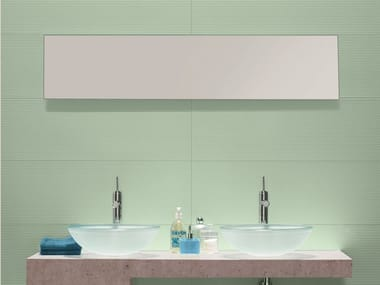 Glazed stoneware wall tiles REPLAY AQUA