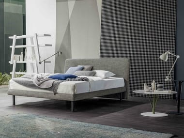 Fabric double bed with upholstered headboard DREAM ON