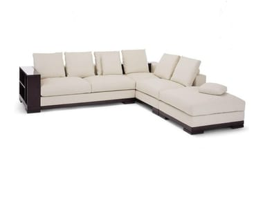 Corner sofa with integrated magazine rack HADRIEN | Sofa