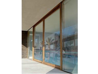 Wooden sliding window LEGNO WGLASS