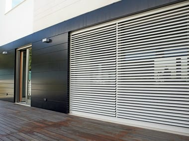Extruded aluminium roller shutter with adjustable slats ROLL FLAP