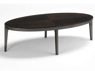 Oval wooden coffee table VENDOME | Coffee table