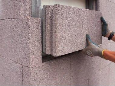 Thermal concrete block LECABLOCCO MUROCAPPOTTO