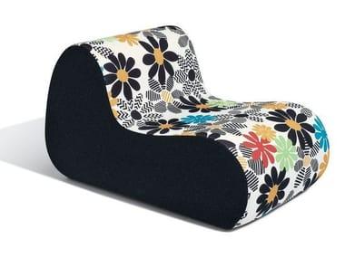 Fabric garden armchair with removable cover VIRGOLA OUTDOOR