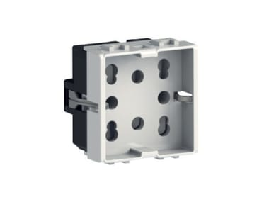 2-Module electrical outlet SIDE