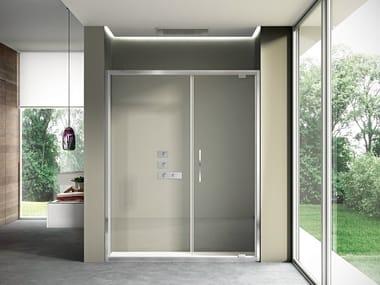 Niche shower cabin with pivot door LIKE 03