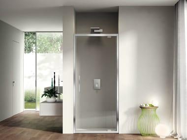 Niche shower cabin with pivot door LIKE 01