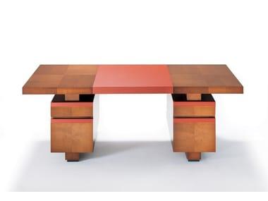 Contemporary style rectangular wooden writing desk TAIPAN | Writing desk