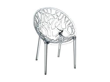 Polycarbonate garden chair CRYSTAL