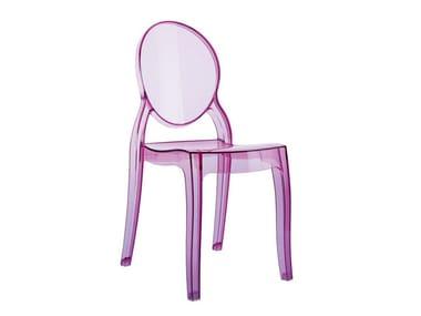 Stackable polycarbonate kids chair ELIZABETH BABY