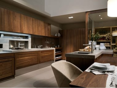 Walnut fitted kitchen CANALETTO