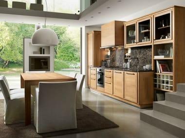 Linear walnut kitchen EVITA | Linear kitchen