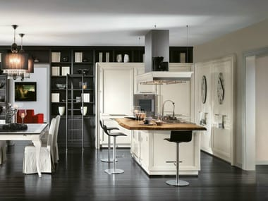 Fitted kitchen with island LIVING