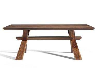 Custom walnut table DECIMO | Walnut table
