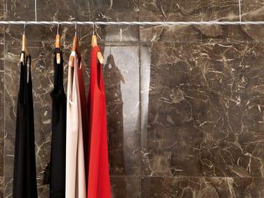 Porcelain stoneware wall/floor tiles with marble effect ANIMA DARK EMPERADOR