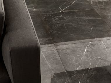 Porcelain stoneware wall/floor tiles with marble effect ANIMA GRAPHITE