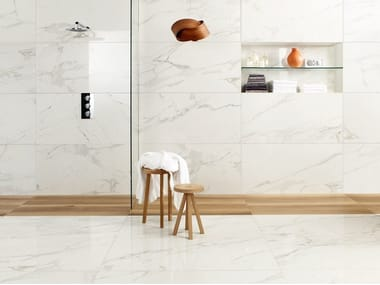 Porcelain stoneware wall/floor tiles with marble effect ANIMA CALACATTA ORO