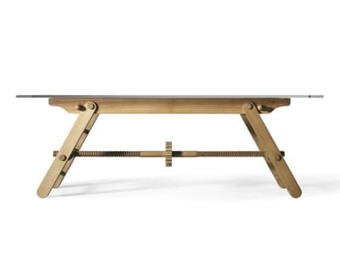 Height-adjustable ash table COMPASSO