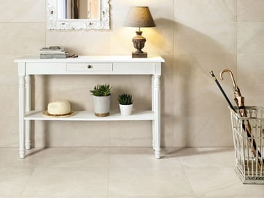 Porcelain stoneware wall/floor tiles with stone effect MAISON BLANC