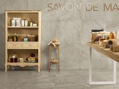 Porcelain stoneware wall/floor tiles with stone effect MAISON PERLA
