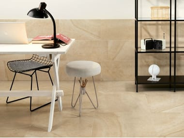 Porcelain stoneware wall/floor tiles with stone effect MAISON CREME