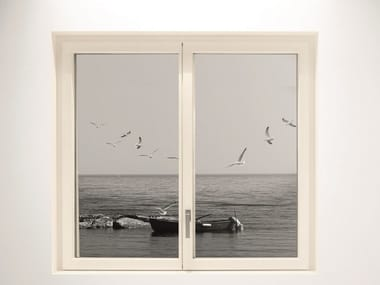 Aluminium and wood window MINIMAL WOOD | Window