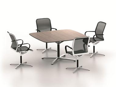 Square meeting table FILO 4-STAR TABLE | Square meeting table
