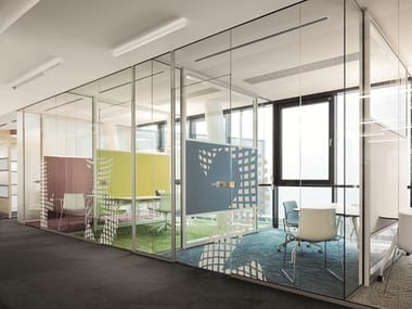 Glass office partition RG - GLASS WALL
