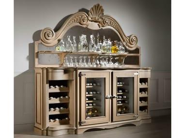 Wooden wine cooler / bar cabinet OYSTER