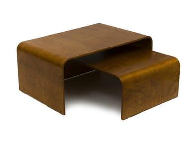 Tavolino basso in betulla da salotto BEND