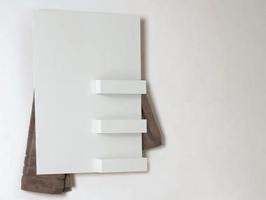 Electric wall-mounted aluminium towel warmer RECTANGLE & SHELVES