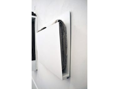 Wall-mounted electric aluminium towel warmer MAGAZINE