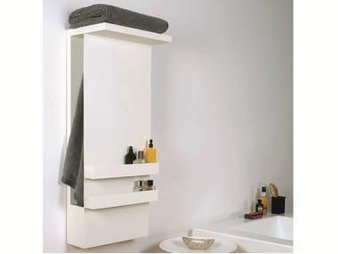 Wall-mounted electric aluminium towel warmer SHELF