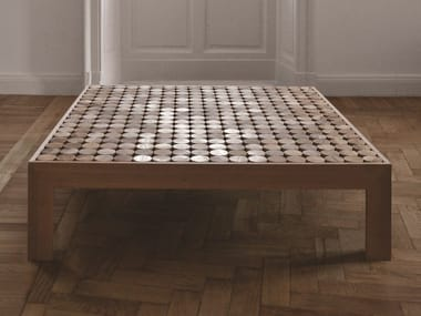 Low square wooden coffee table SOFIA | Wooden coffee table