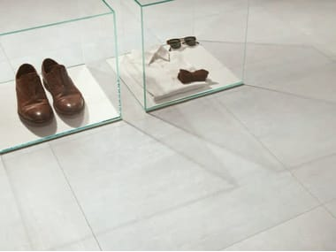 Porcelain stoneware wall/floor tiles with metal effect TRACE VITRO