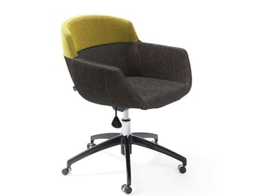 Task chair with 5-Spoke base with casters MOOD OFFICE