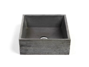 Countertop square Concrete and Cement-Based Materials washbasin INVIVO 40