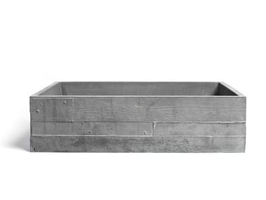 Vasque à poser rectangulaire en matériaux cimentaires INVIVO 60