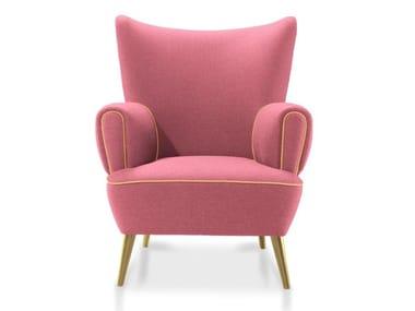 Wing upholstered velvet armchair GARLAND
