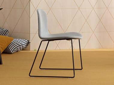 Sled base fabric chair BOB XL | Sled base chair