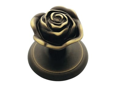 Classic style brass door knob ROSE | Door knob